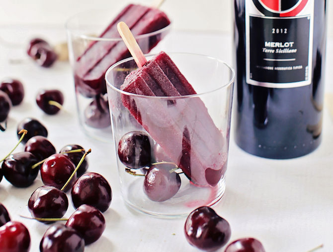 Cherry Merlot Ice Pops