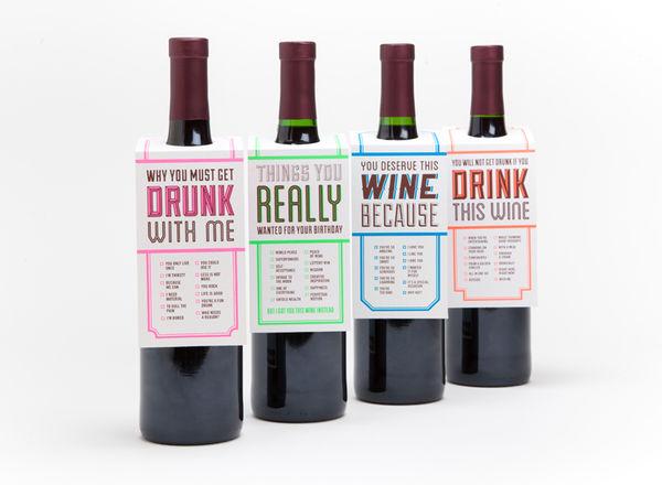 Humorous Wine Tags