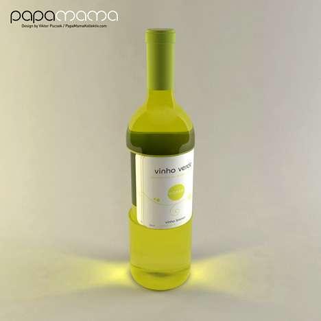 Paper Cup Wine Labels