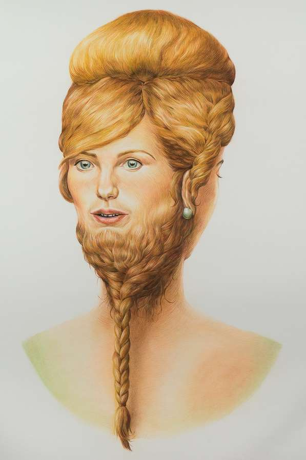 Intricately Hairy Portraits