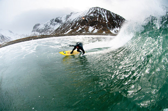Winter Surf Photography