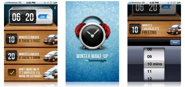 Winter Wake-Up app