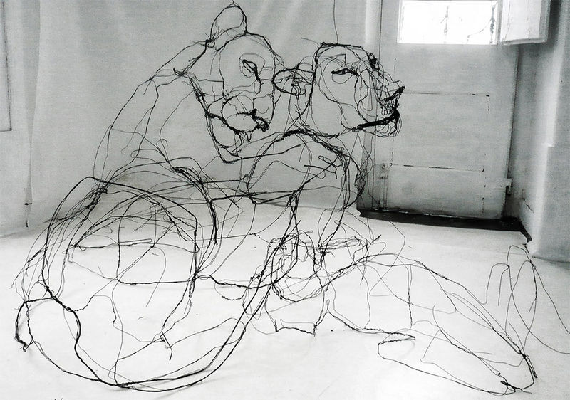 Wire Animal Sculptures