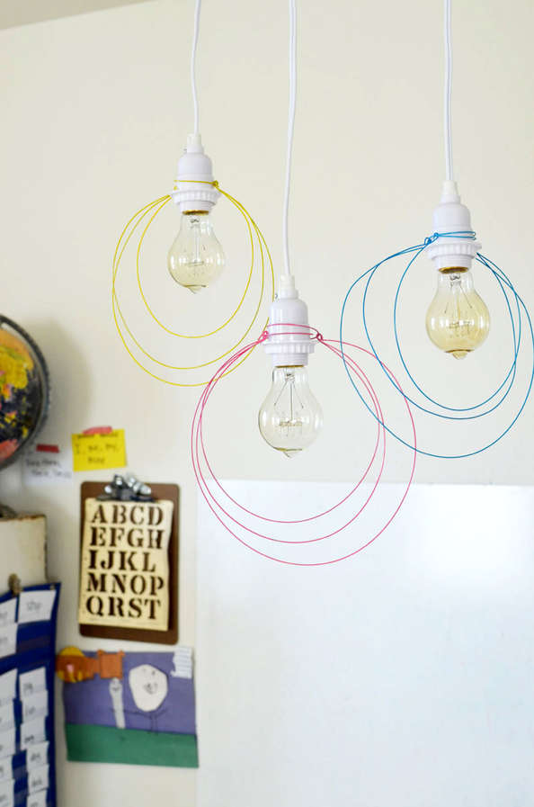 DIY Wire Halo Lights