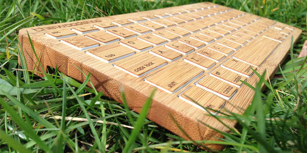 Wireless Wooden Keyboards