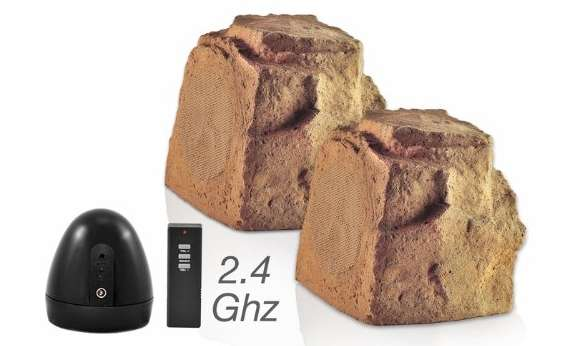 Wireless Outdoor Rock Speakers