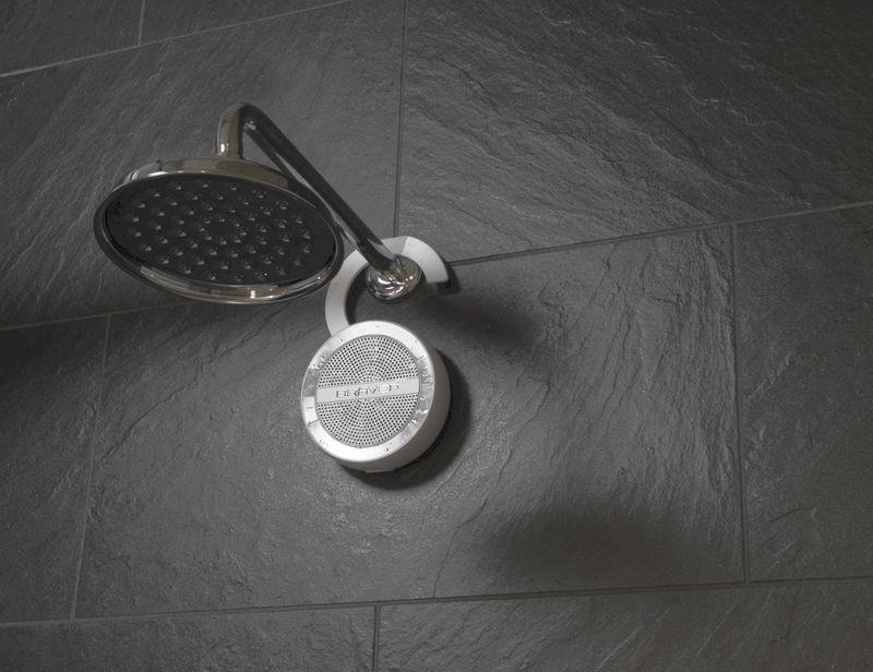 Sleek Shower Hook Speakers