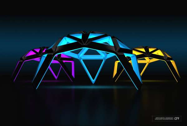 Glowing Geodesic Lights