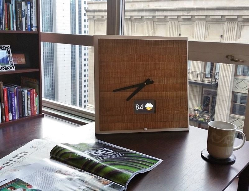 Smartphone-Connected Wood Clocks