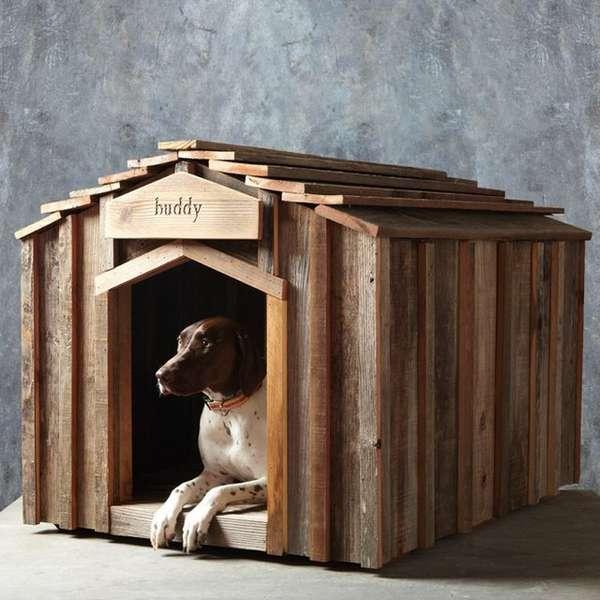 Rustic Upcycled Dog Houses Wood Dog House
