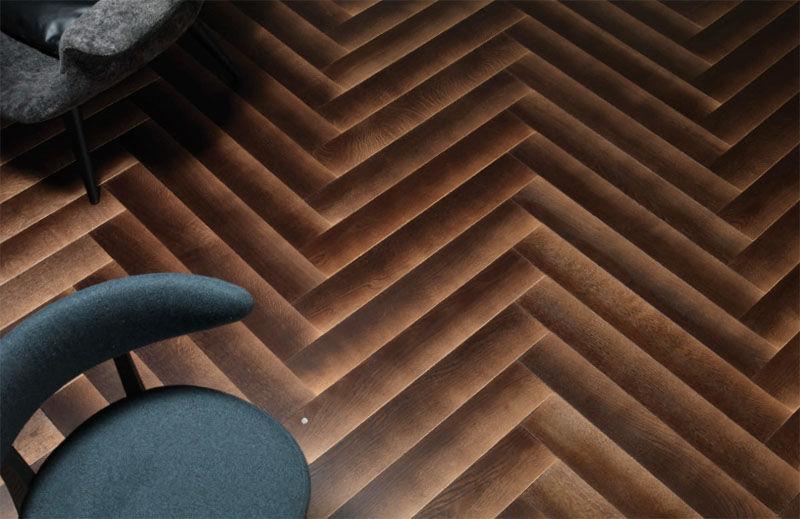 Gradient Wood Flooring Designs