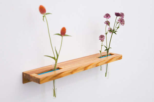 Wood Flower Shelf
