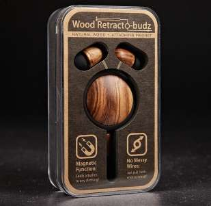 African Zebrawood Earbuds