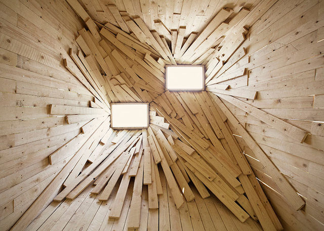 Chaotic Wood Installations