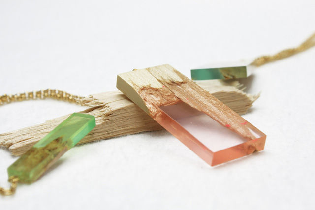 Fractured Wood Jewelry