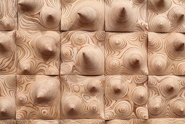 Topographic Wood Sculptures