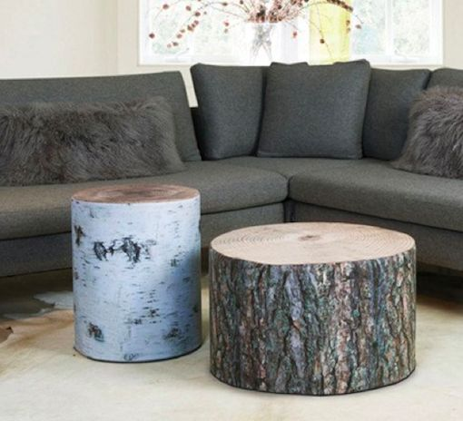 Wood Stubbe Poufs