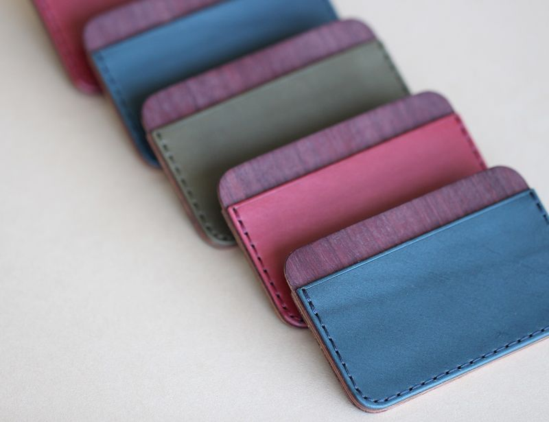 Wooden Leather Wallets