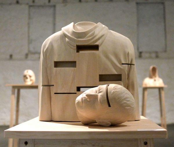 Gaping Wooden Art Sculptures