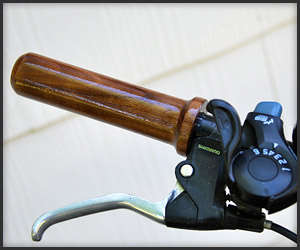 Rustic Hardwood Bike Handles