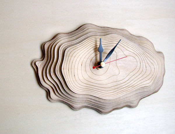 Multi-Layered Wooden Clocks