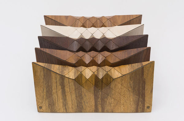 Geometric Wooden Clutches