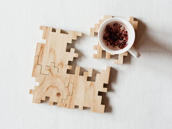 Geometric Puzzle Coasters