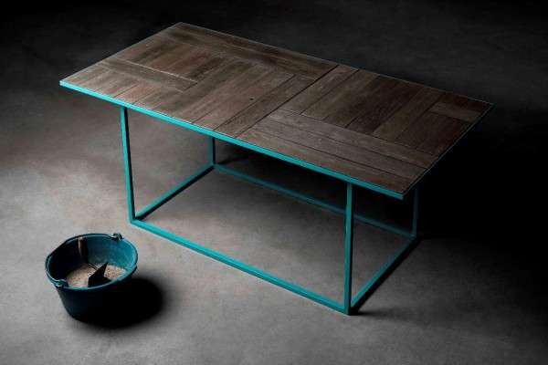 Faux Wood Furniture - The Wooden Concrete Handcrafted Table by