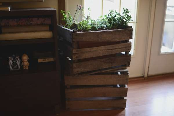 Rustic Wooden Crate Planters