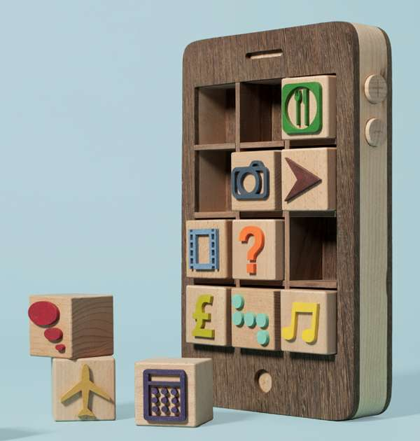 Wooden iPhone