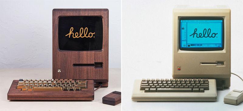 Wooden Computer Replicas