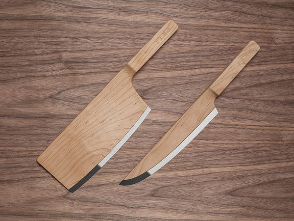 Sleek Wooden Blades Wooden Knives