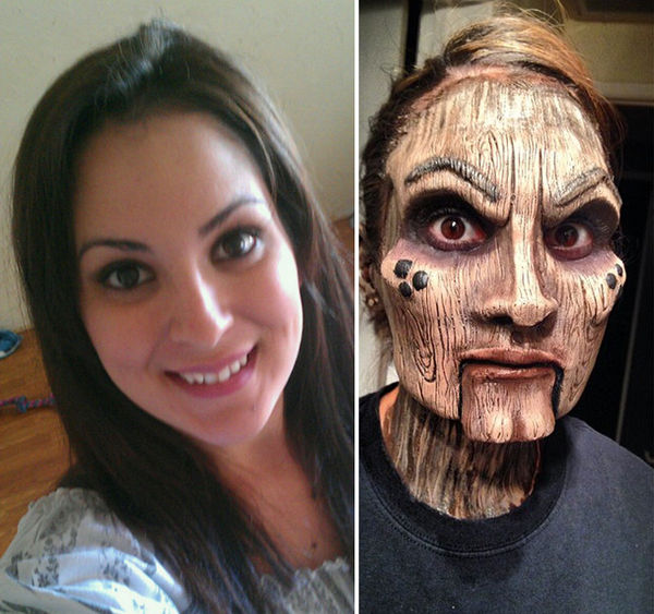 Wooden Cosmetic Face Masks
