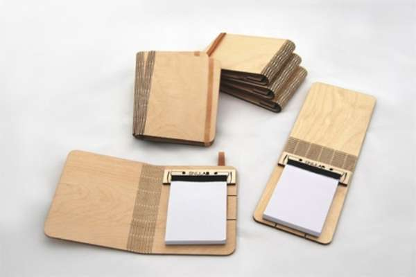 Bendy Bark Notebooks : wooden notepad