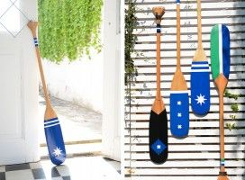 Vibrantly Painted Paddles