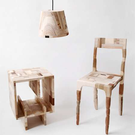 Wooden Patchwork  Eco Furniture
