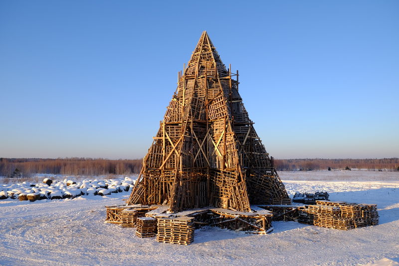 Handcrafted Wooden Pyramids
