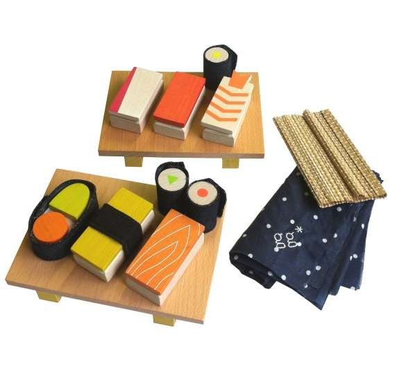 Terrific Timber Sushi Sets