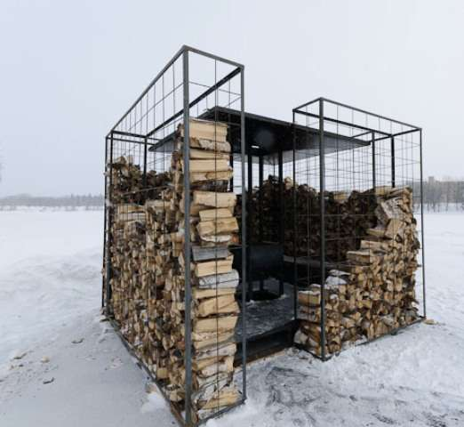 Firewood Storage Shacks