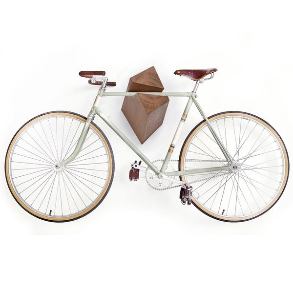 Minimalist Wooden Bicycle Racks