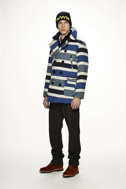 Thermal Striped Outerwear