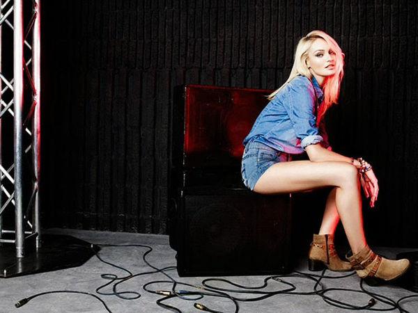 Red-Lit Denim Fashion Ads