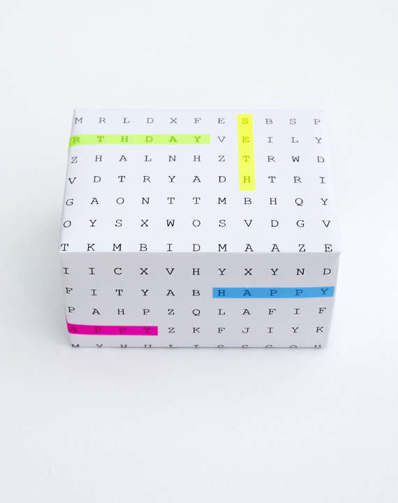 DIY Word Game Gift Wrap