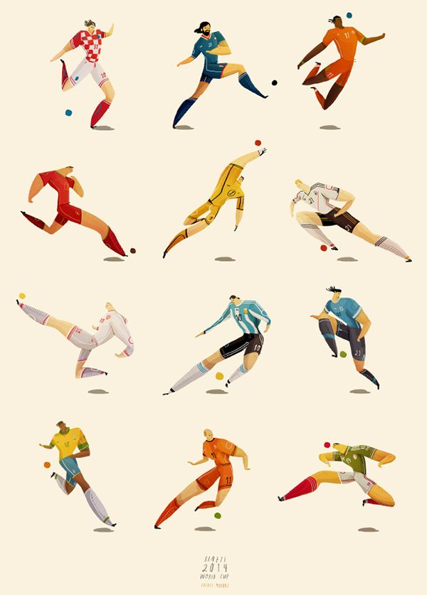 World Cup Player Illustrations