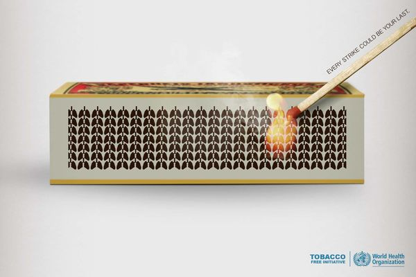 Matchstick-Striking Tobacco Ads