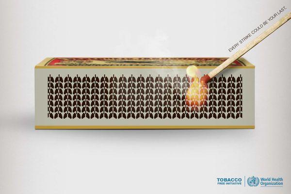 Matchstick-Striking Tobacco Ads