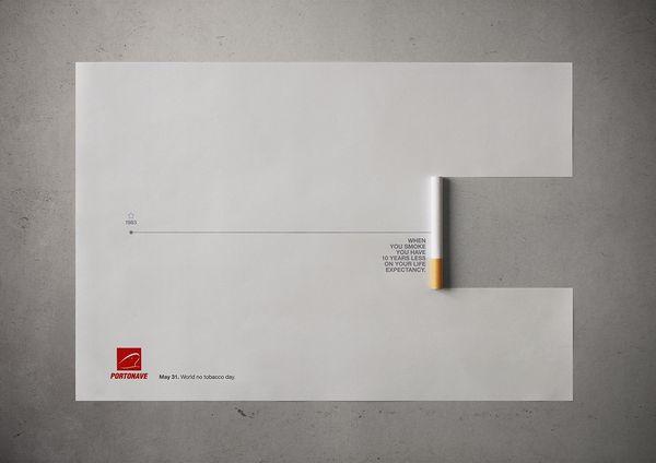 Cigarette-Erasing Timeline Ads
