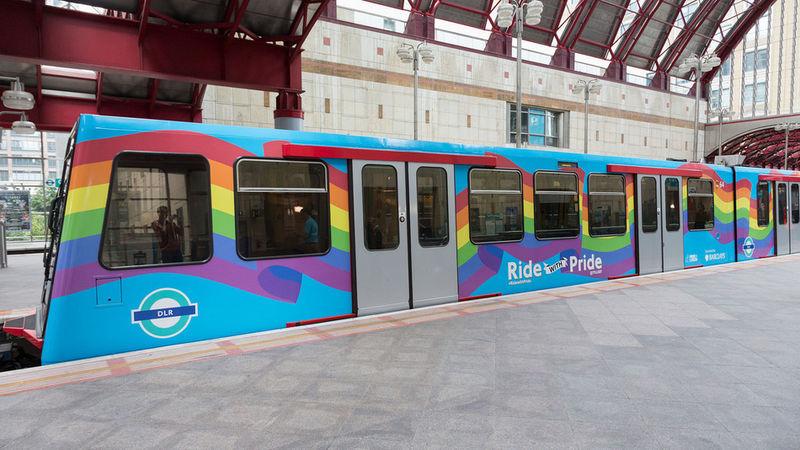 Vibrant Rainbow Trains
