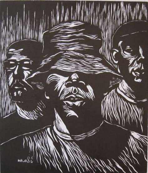 Worldart Woodcut Line-Styled Art