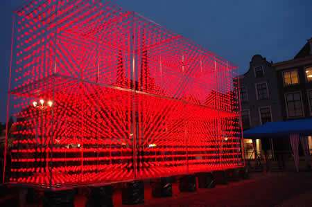 World's Largest 3D Display Made of 8,000 Ping Pong Balls